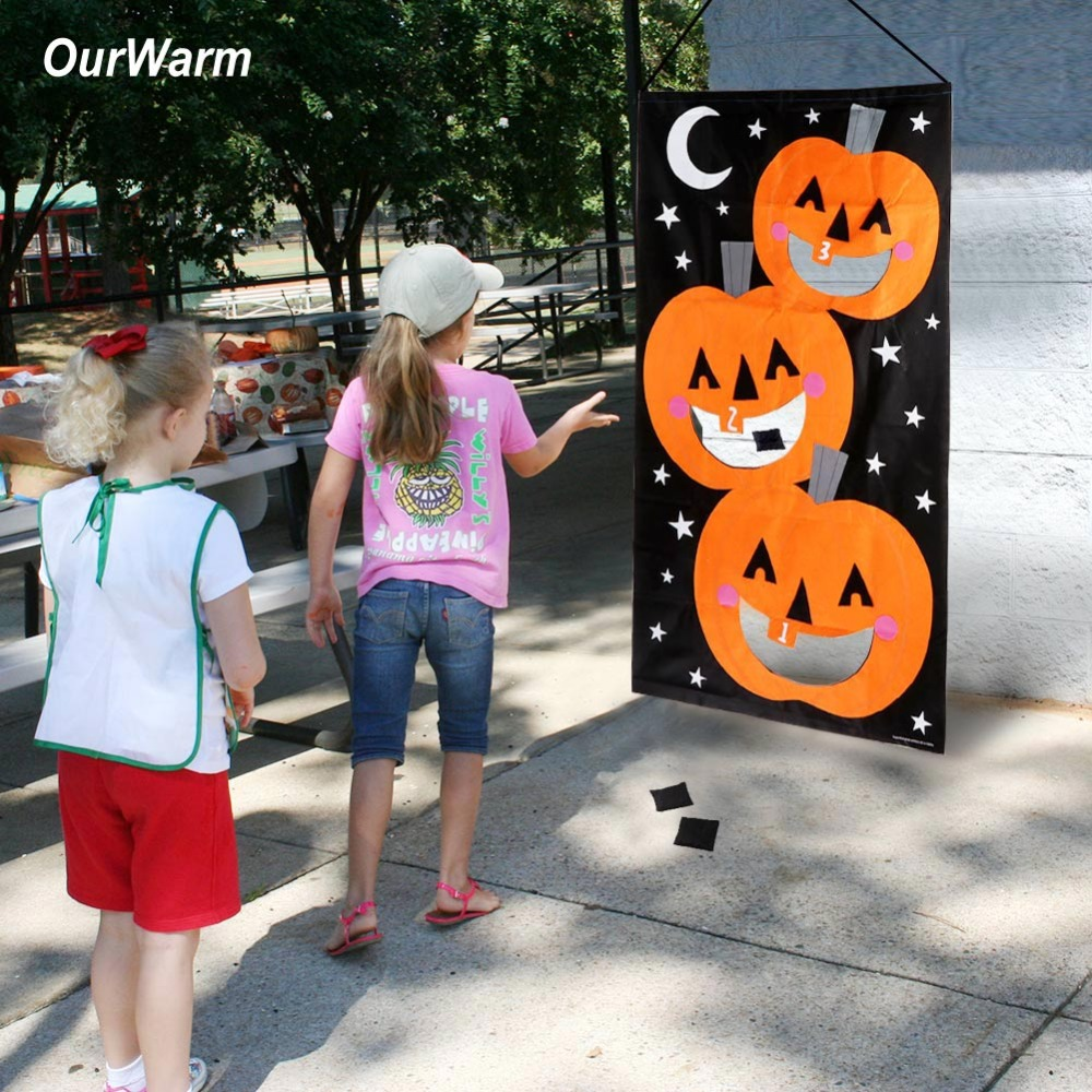 Wondrous Us 10 69 30 Off Ourwarm Halloween Party Hanging Pumpkin Bean Bag Toss Game Gift For Kids Black And Orange Bean Bags For Throwing In Party Diy Onthecornerstone Fun Painted Chair Ideas Images Onthecornerstoneorg