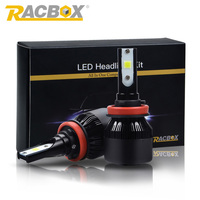 RACBOX 72w LED Car Headlight Super Bright H1 H7 H8 H9 H11 9005 HB3 9006 HB4