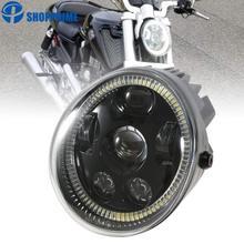 Black Headlight Lamp for  V Rod Headlight VROD VRSCA VRSC Headlight VRSC/V-ROD Motorcycle Vrod Led 1pcs x chrome led headlight for harley davidson v rod vrod headlight vrsc v rod led headlight motorcycle aluminum headlight