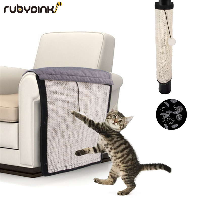 Furniture Protect Cat Kitten Scratch Board Pad Sisal Scratcher Mat Claws Care Cat Toy Product Sofa Scratching Post Protect in Furniture Scratchers from Home Garden