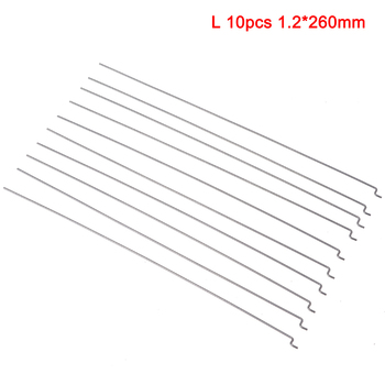 10Pcs Z Type D1.2mm Push Rod Steel Wire Push Pull Rod Pushrod For Rc Aircraft Airplane Pull Push Connecting Rod image