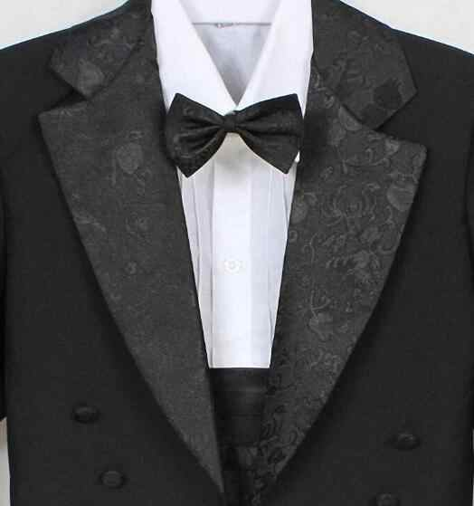 c348a10183f08 ... High Quality Baby boy tuxedo suit for wedding child blazer clothing set  5pcs coat+