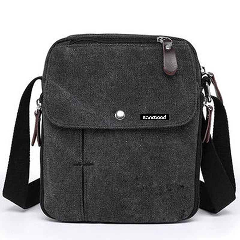 Travel Canvas Shoulder Bag Crossbody Zipper Tote Handbag Phone Messager Bag With Special Design Pocket