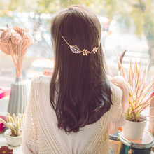 Boho Wedding Hair Accessories For Bridal Hairband Headpiece Leaf Hair Pins Clips Vintage Headbands For Women