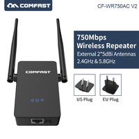 COMFAST CF WR750ACV2 Wireless WIFI Repeater 750Mbps mini wifi Router Dual Band 5Ghz 802.11AC Wi fi Roteador Extender antennas