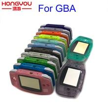 استبدال مضيئة حافظة شفافة شل غطاء لنينتندو GBA الإسكان الحال بالنسبة Gameboy مقدما أزرار وحدة التحكم مفك مسامير