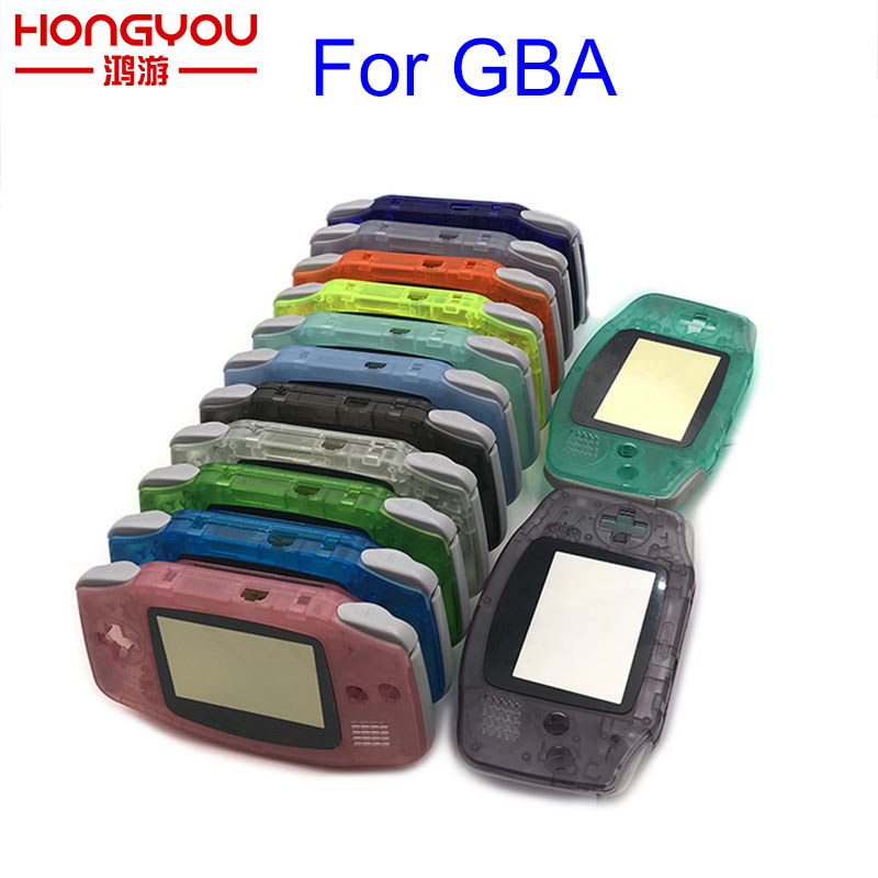 Replacement Luminous Clear Case Shell Cover for Nintendo GBA Housing Case for Gameboy Advance Console Buttons Screw Driver