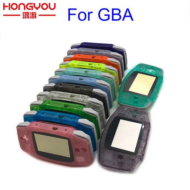เปลี่ยนส่องสว่างกรณี SHELL สำหรับ Nintendo GBA สำหรับ Gameboy ADVANCE คอนโซลปุ่มสกรู DRIVER