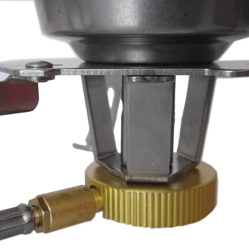 New 1 PC Portable BBQ Stove Split Stove Outdoor Windproof Gas Burner Cooking Camping Stove VEN16 T0.41
