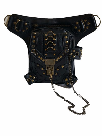 Free shipping Lowest Price Steampunk Bag Steam Punk Retro Rock Gothic bag Shoulder Waist Bags Packs Women Men leg Thigh Holster chrismas gift steampunk bag steam punk retro rock gothic bag goth shoulder waist bags packs victorian style women men leg