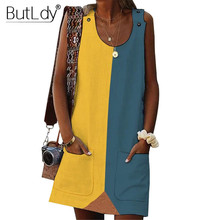Color Block Patchwork Tank Women Dress Large Plus Big Size 5XL Summer Dress 2019 Sexy Off Shoulder Sleeveless Cotton Short Dress цена 2017