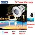 IP68 Wasserdicht 3 Watt LED Marine Licht Led-unterwasserboot Licht Weiß Lampe Edelstahl Helligkeit Beleuchtung 12V24V
