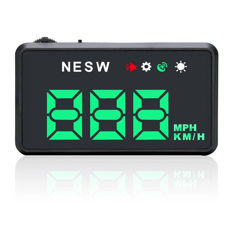 F206 HD Universal font b Car b font HUD font b GPS b font Speedometer Head