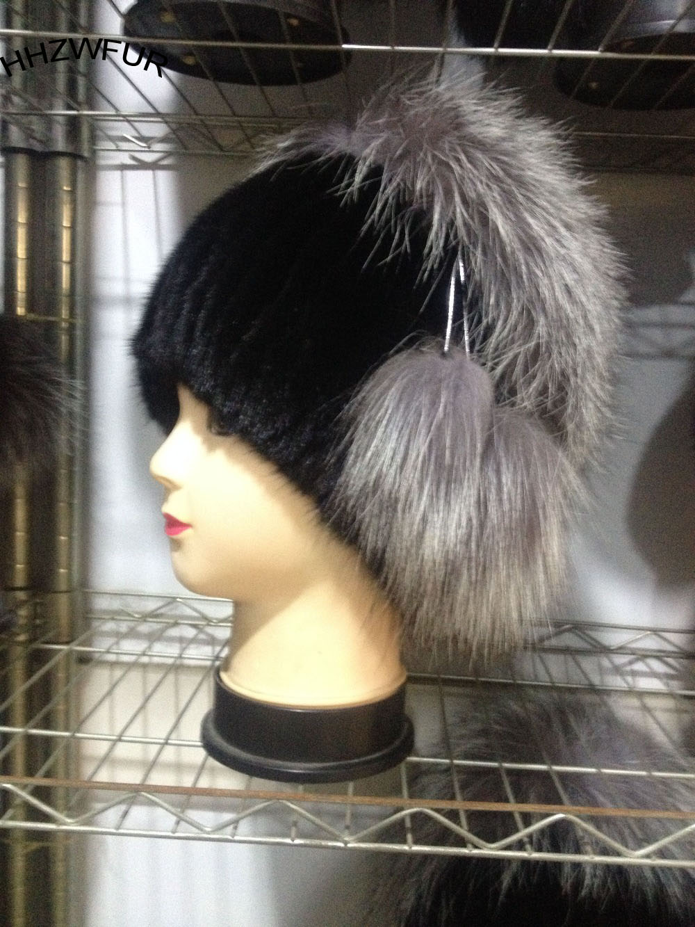 ФОТО HHZWFUR wholesale real free shopping fashion fur mink fox cap