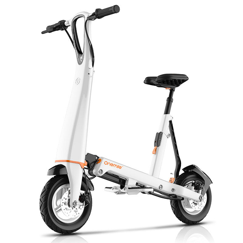 Om foldable electric scooter for adults folding bike for Folding motorized scooter for adults