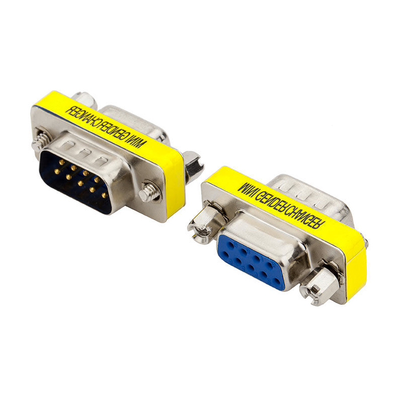 DB9 rs232 9 Pin male to Female Mini Gender Changer Convertor Adapter Connector