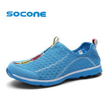 Socone Plus Size 36-47 Running Shoes For Women Ladies Slip On Outdoor Walking Shoes Breathable Mesh Sport Sneakers zapatillas