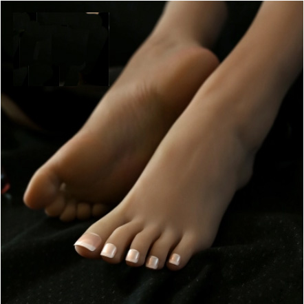 High Quality Silicone Realistic Foot Model Lifelike Mannequin Foot Tan Color Customize