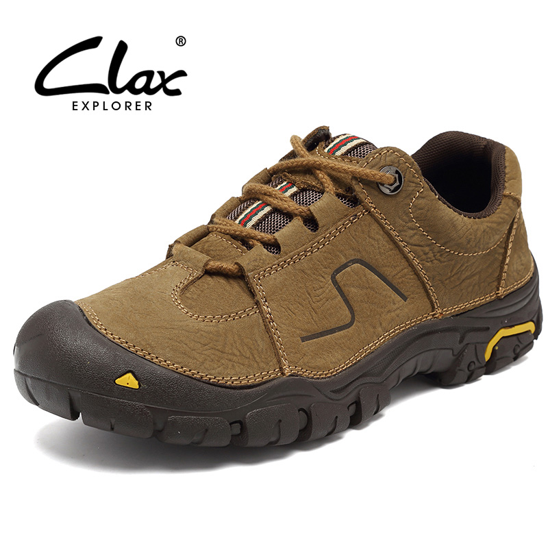 CLAX Men's Walking Shoes Outdoor 2017 Genuine Leather Casual Shoe Male Fashion Autumn Leather Footwear Soft Comfotable male casual shoes soft footwear classic men working shoes flats good quality outdoor walking shoes aa20135