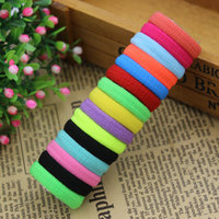 2015 New 10pcs Lot Rubberbands Hot Candy Cute 15 Colours 2 5CM Child Kids Girls Hair