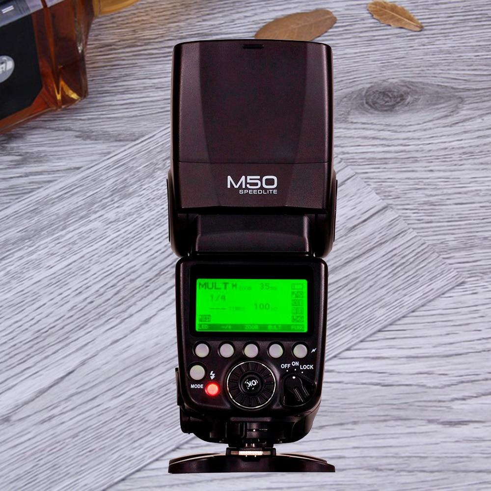 For Canon ETTL GN60 TTL HSS 1/8000s Flash Speedlite Meyin M50 Vs Yongnuo YN560 III YN560 IV YN565EX II YN568EX II As Pixel Mago yn e3 rt ttl radio trigger speedlite transmitter as st e3 rt for canon 600ex rt new arrival
