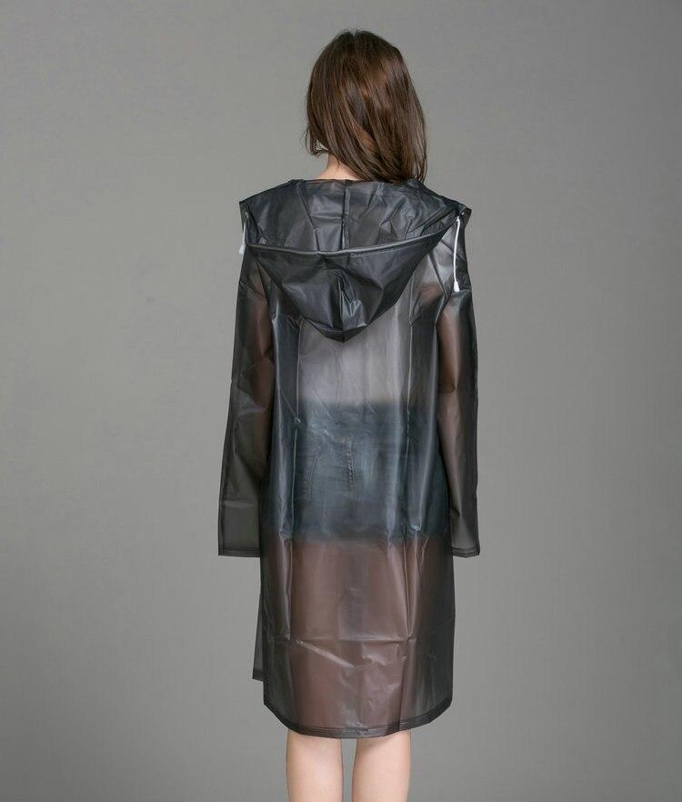 bc7d70c0240 2019 Women Rain Coat Plus Size Long Raincoat Transparent Bicycle ...