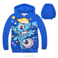 Baby girls My Pony Sport  hoodies vestidos coat Cartoon Jacket Autumn Kids clothing for Girls La reine des neiges 2 4 6 8 10 Yrs