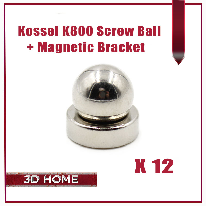 12kit=24pcs 3D Printer Reprap Delta Kossel K800 Round Screw Ball + Round Magnetic Bracket / 3D Printer Reprap Delta Kossel K800 diy kit lcd 2004 display kossel k800 reprap rostock delta kossel mini 3d printer