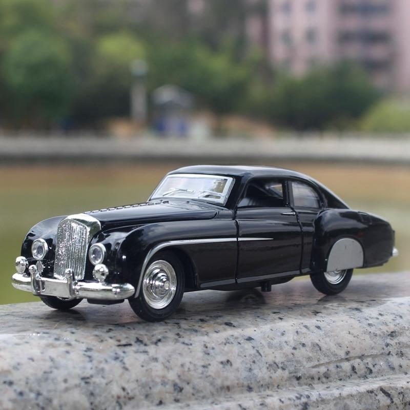 1:28 Retro Bentley-autolodel Legering Trek Knipperende Klassieke - Auto's en voertuigen