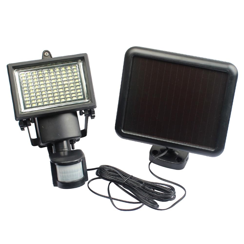 ФОТО Outdoor Solar Powered Light 1000LM 100LED PIR Motion Sensor Security LED Solar Lamp Light Garden Landscape Yard Lawn Wall Lamp