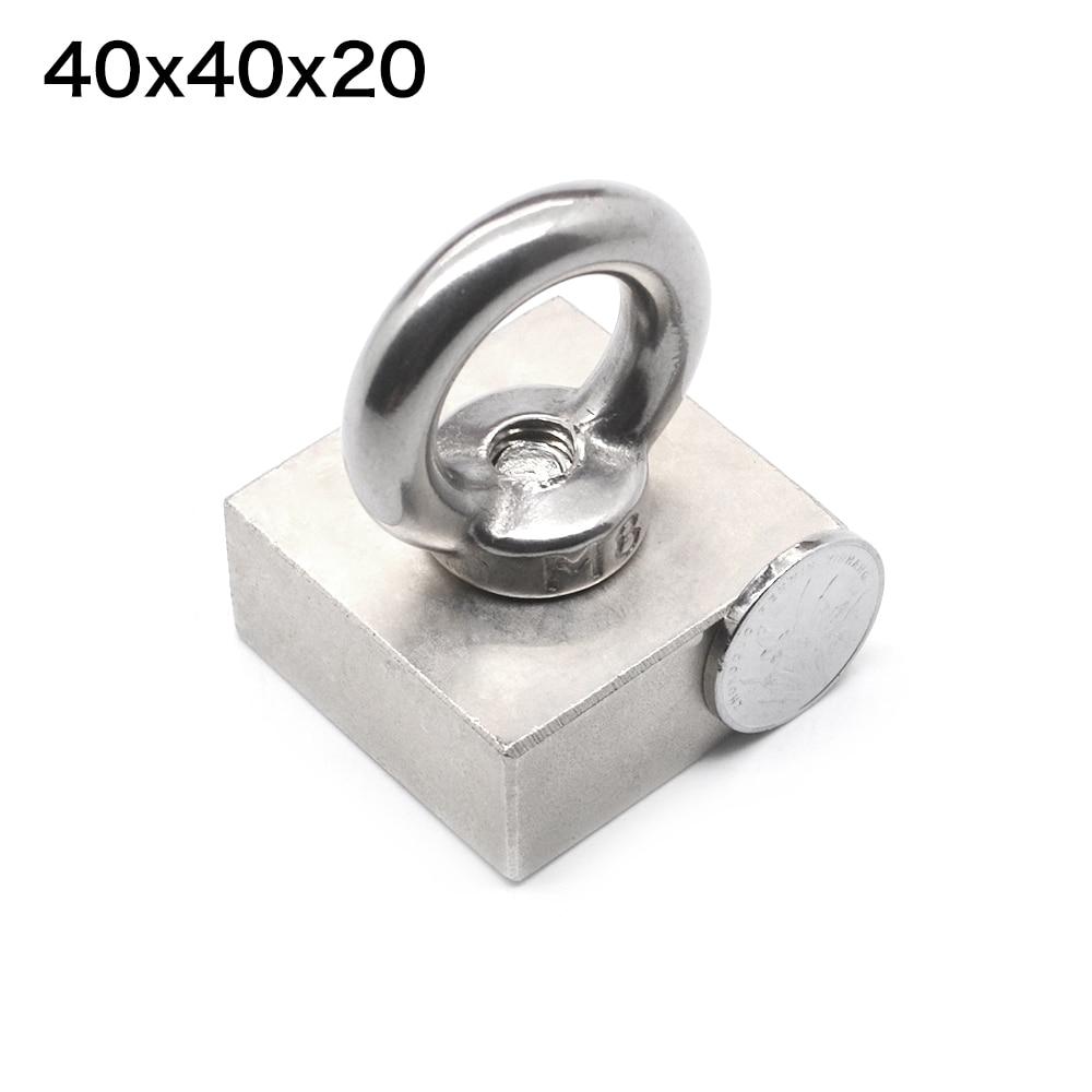 Rare Earth block hole magnet 40mm x 40mm x 20mm Neodymium  Magnets 40mm*40mm*20mm (tolerance 4mm)Rare Earth block hole magnet 40mm x 40mm x 20mm Neodymium  Magnets 40mm*40mm*20mm (tolerance 4mm)
