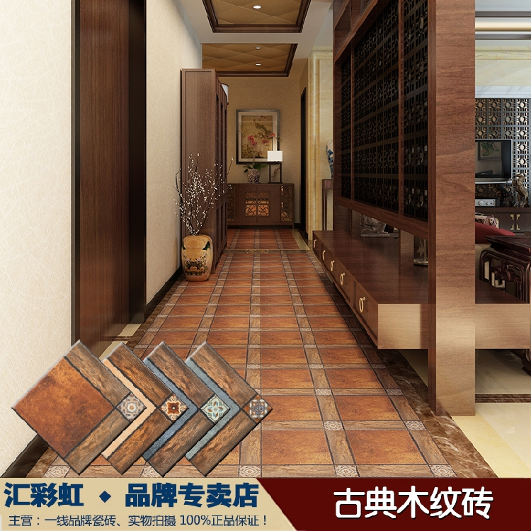 New Classical Chinese Wood Blocks Mosaic Tile Floor Tiles For Indoor
