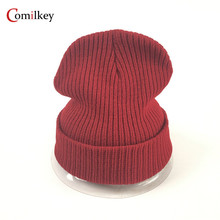 Фотография Solid Color Male Bonnet Unisex Hats Gorro Fashion Knitted Beanie Caps Beanies for Female Winter Hat Skullies balaclava
