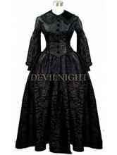 Black Vintage Long Sleeves Gothic Victorian Dress Black Victorian Dresses