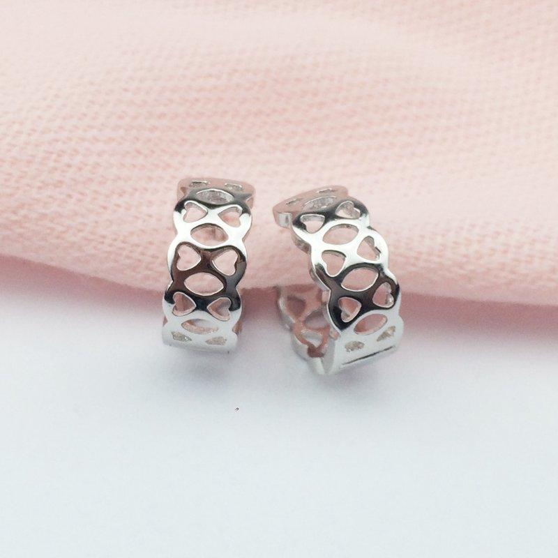Новая мода Серебряный макраме себе свадебные женские Серьги-кольца Сияющий полый партии Серьги Для женщин Обувь для девочек Pendientes