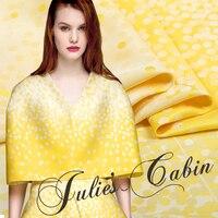 Nishikori satin jacquard dress fabric fashion wave point positioning fashion fabric wholesale high quality cloth