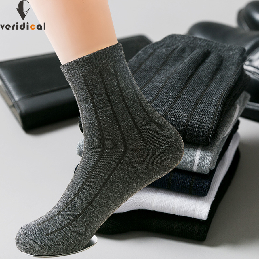 VERIDICAL good quality 5 pairs/lot men   socks   cotton cheap business harajuku Diabetic fluffy   socks   meias masculino calcetines