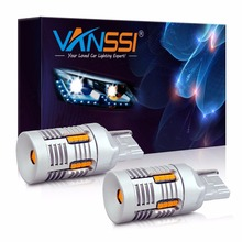 2x T20 7440 WY21W 7440NA LED CANbusข้อผิดพลาดฟรีHyper Flash Super Bright AmberสีเหลืองหลอดไฟLEDสำหรับไฟเลี้ยวไฟสัญญาณเท่านั้น