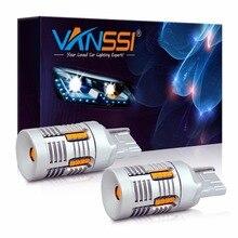 2x T20 7440 WY21W 7440NA LED Canbus 오류 무료 하이퍼 플래시 없음 슈퍼 밝은 호박색 노란색 LED 전구 턴 신호등 전용
