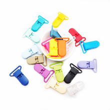 Chenkai 50PCS 25mm Baby Pacifier Clip Plastic Holder Soother Dummy D-shape Clips For Nipples