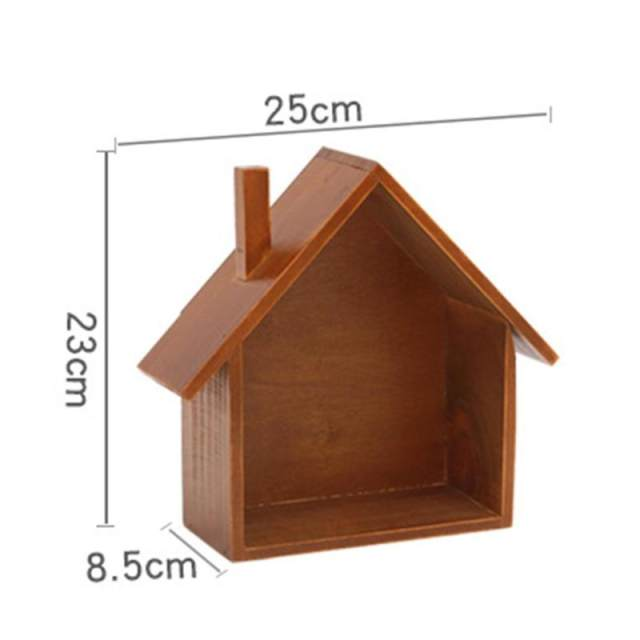 Online Shop Creative retro wooden house wall shelves Holder Living bedroom  wall Decoration Box Hanging Wooden Box Wall Storage Hook 25 | Aliexpress  Mobile