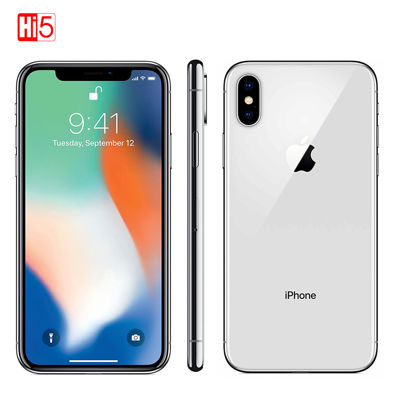 Original Unlocked Apple Iphone X Face ID 64GB/256GB ROM 3GB RAM 5.8 Inch Hexa Core Ios A11 12MP Dual Back Camera 4G LTE