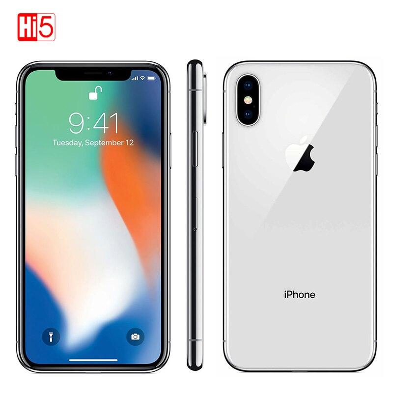 Original desbloqueado Apple iPhone X Face ID 64 GB/256GB ROM 3GB de RAM 5,8 pulgadas Hexa Core iOS A11 12MP Dual Cámara 4G LTE Original desbloqueado Apple iphone 6 Plus teléfono móvil 5,5