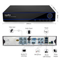 Sannce 4ch 1080 p registro hd hdmi dvr sistema de gravador de vídeo digital cctv segurança qr