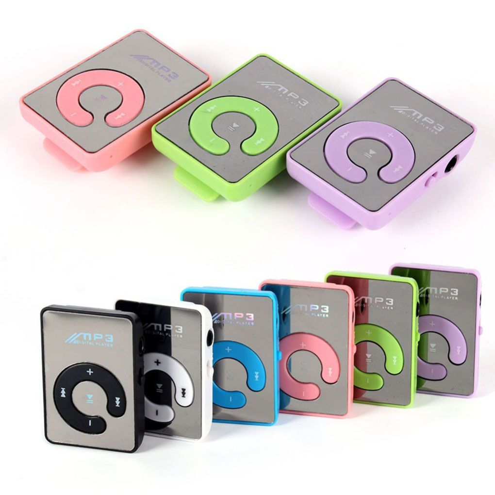 New Mirror Clip USB MP3 Player Sport Support 8GB TF Card Portable Mini Music Media Player