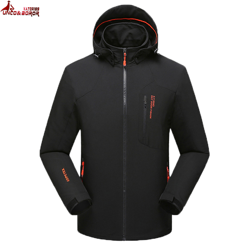 UNCO&BOROR Big size 6XL,7XL,8XL Men Tactical Jacket Breathable Hooded Male spring autumn windproof waterproof Soft shell Jackets