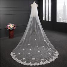 Длинная свадебная фата трехметровая Свадебная Фата с расческой