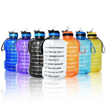 BuildLife 1 galon wody butelka ze słomką czas Marker 3 78L 128 uncja BPA darmowe plastikowe o dużej pojemności fitness sport wody dzbanek tanie i dobre opinie Z tworzywa sztucznego Dorosłych Butelki wody Zaopatrzony Ekologiczne QF1305 Słomy typu TOUR Nie posiada Brak Zapas rzeczy