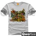 Mario Rockman Sonic BOMBER MAN VIDEO GAME Print Original Design Fashion Style Casual Cotton Tshirt T shirt TEE Free Shipping