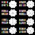 OPHIR Set15 200 Аэрограф Ногтей Трафареты Штамповка Дизайн Наклейки и Наклейки 20 Листов Шаблонов Кисти Ногтей Инструменты _ JFH15